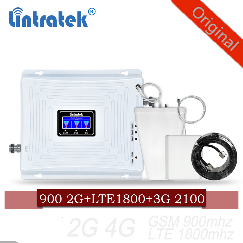 Lintratek Cellular Signal Booster 900 1800 2100 GSM Tri Band Amplifier Mobile Signal Repeater DCS WCDMA 2G 3G 4G LTE Antenna#40