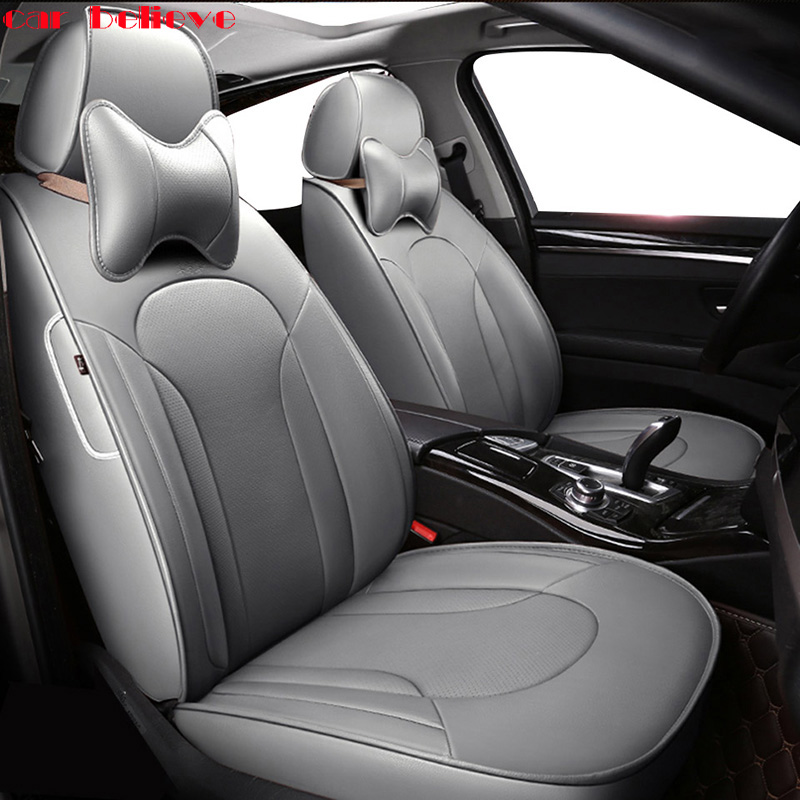 Car Believe Auto automobiles leather Car seat cover For Nissan Qashqai Note Murano March Teana Tiida X-trail Car accessories тормозной диск dba x gold 2308x nissan 350z auto 41825 murano 03 07 infiniti g35 2d 4d auto 4 пер