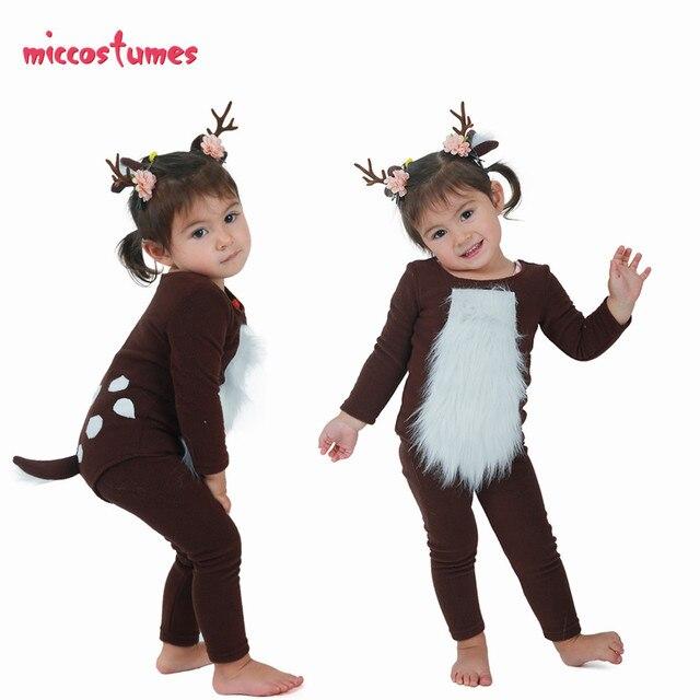 ילדים צבי תלבושות ילד צבי תלבושות עם קרנות עבור ליל כל הקדושים