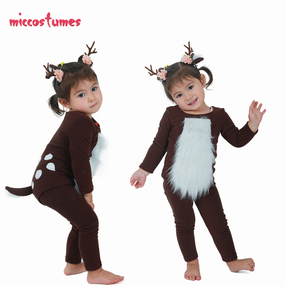 Child Deer Costume with Horns for Halloween-in Girls Costumes from Novelty & Special Use