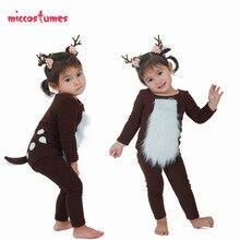 Costume de cerf pour enfants, Costume de cerf avec cornes, pour Halloween