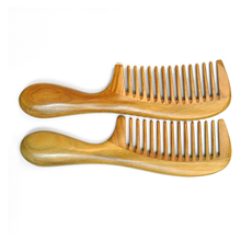 Ming cheng Sandalwood Hair Combs Handicraft Wooden Round Handle Sandal  Natural Fine Comb Anti-Static Care