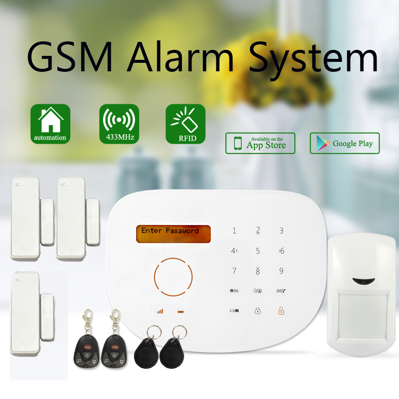 Super nice design touchscreen lcd display gsm alarm - How to design a home security system ...