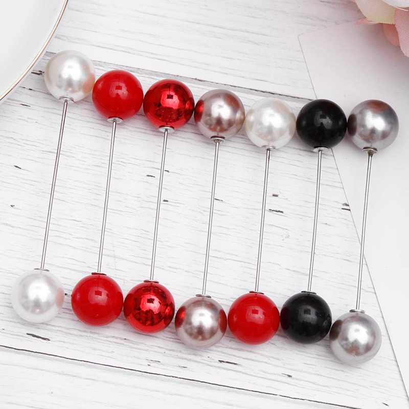 Fashion 1Pcs Woman/Girl Imitation Pearl Brooch Classic Charm High Quality Accessories Simple Double Pearls Brooches All-match