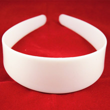 20pcs 4cm Width Wholesale New White Plastic Hair Bands Wide Simple Style Hair Hoops Head Bands for DIY