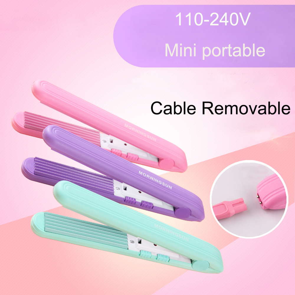 110-240V Portable Mini Curls Hair Straightener Ceramic Corrugate Curling Iron Styling Tools Cable Removable Hair Curler titanium plates hair straightener lcd display straightening iron mch fast heating curling iron flat iron salon styling tools