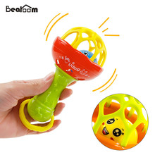 Baby Rattles Mobiles Fuuny Baby Toys Intelligence Grasping Gums Soft Teether Plastic Hand Bell hammer Educational Gift