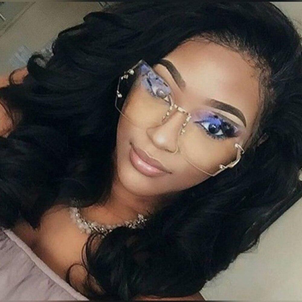Vertrouwend Vrouwen Oversized Unieke Randloze Zonnebril Gold Metal Benen Vintage Brillen Vrouwelijke Uv400 Gradiënt Zonnebril Eyewear #236803