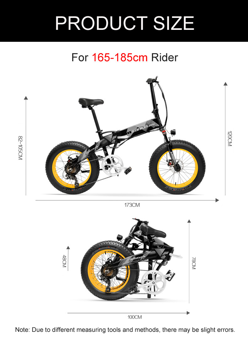 HTB1cdjJbnHuK1RkSndVq6xVwpXas - 20 Inch Electrical Snow Bike Electrical Bicycle Two Wheel Brushless Motor 500W 48V Mountain Bike Folding Moveable Electrical Scooter