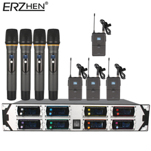 Wi-fi Microphone New U9000GTA UHF eight Channel Fastened Frequency + Dynamic Display + KTV + Skilled Microphone