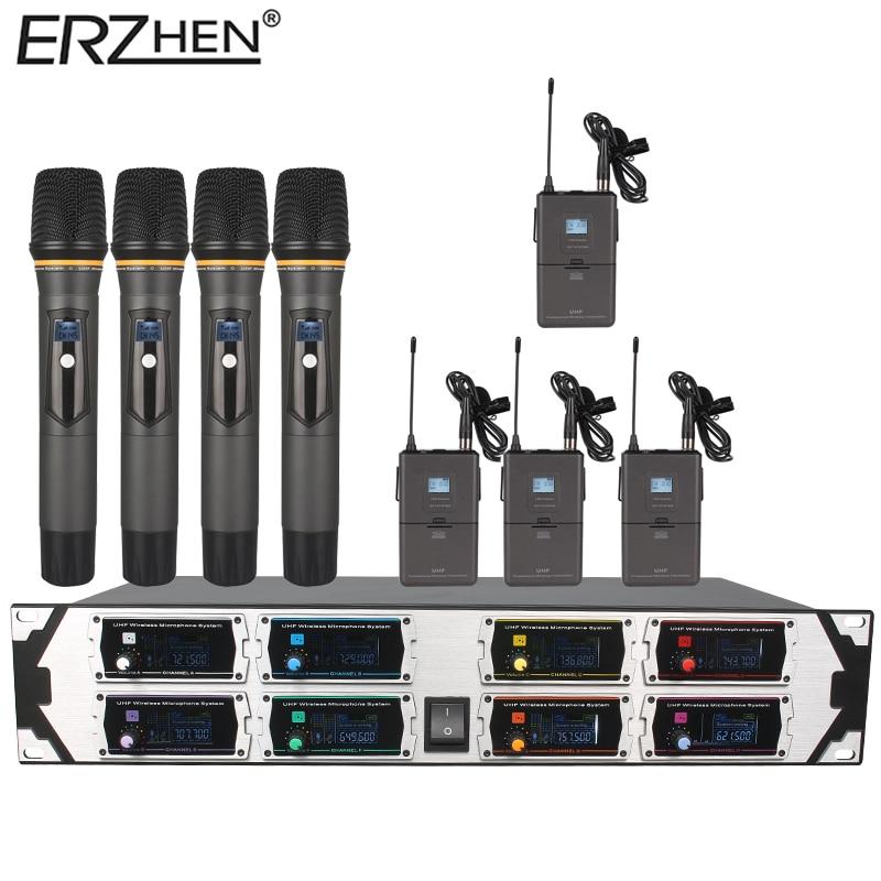 Bežični mikrofon Novi U9000GTA2 UHF 8 kanala Fiksna frekvencija + - Prijenosni audio i video - Foto 3