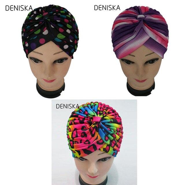 DENISKA moda mujer Polca del Turbante cabeza Wrap Hair pérdida ...