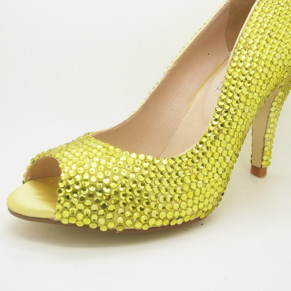 Sparkly Silver Peep Toe Heels
