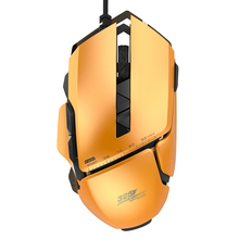 Optical USB Wired Pro Gaming Mouse with 4 Adjustable Level RGB LED Backlight Omron Switch Pro Game Mice For Mac PC Gamer LOL CS