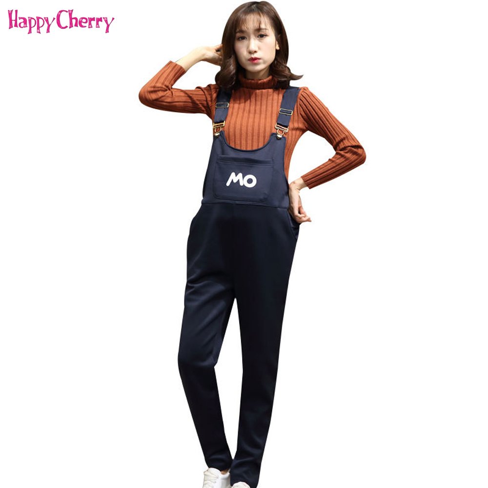 все цены на Happy Cherry Maternity Women Mother Bib Pants Pregnant Plus Size Pregnantb Overalls Jumpsuit Solid Color Pants Maternity Clothes