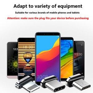 Image 2 - Üçü Bir Arada Manyetik Enayi Veri Kablosu Tipi C Uygulama Apple Android Dokuma Şarj Manyetik Kablo Yayan göstergesi