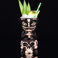 Hawaii cup TIKI bar cocktail ceramic cup skeleton doll TIKI mug
