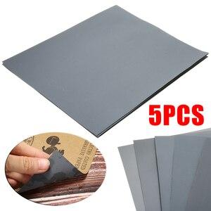 Image 1 - 5 Pcs עמיד למים חול ניירות רטוב ויבש חול נייר מעורב מגוון חצץ 2000 2500 3000 5000 7000 עבור רכב צבע לכה מילוי