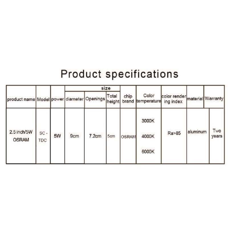 Image 5 - SCON 2.5inch 5W AC110 240V living Room Round waterproof LED Mini downlight CRI RA>85 OSRAM Recessed Ceiling lamp indoor light-in LED Downlights from Lights & Lighting