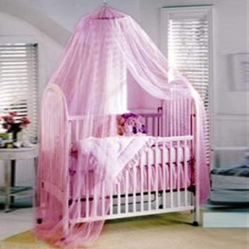 Baby Canopy/Mosquito Net for Cot kids Baby Bed Four Poster Crib Netting Hanging Dom Round top mosquito net portable mosquito net-in Crib Netting from Mother ... & Baby Canopy/Mosquito Net for Cot kids Baby Bed Four Poster Crib ...