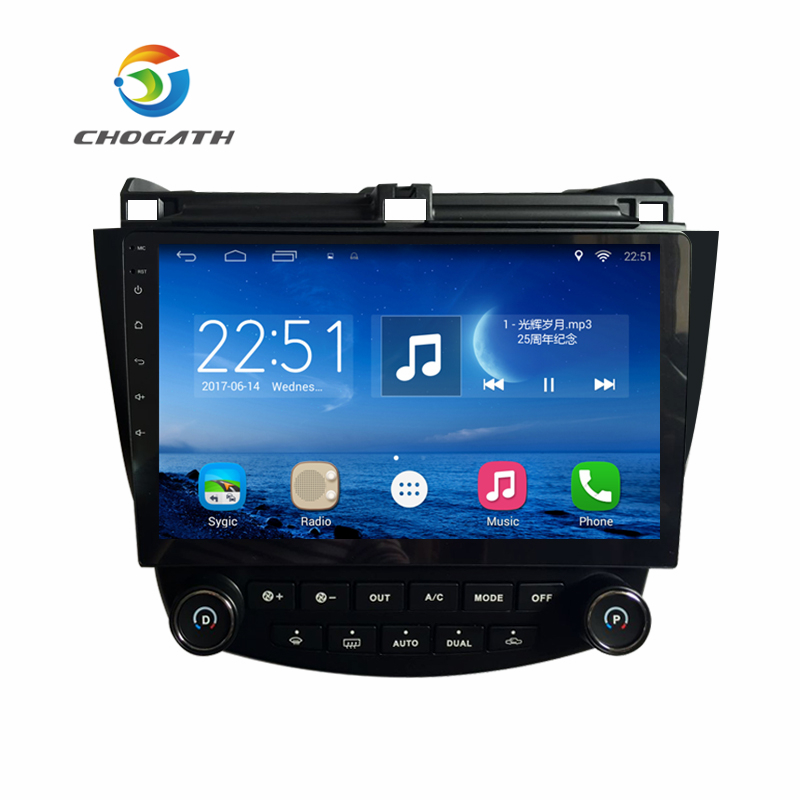 ChoGath Android 6 1 GPS Navigation 10 2 Inch for Honda Accord 7 2003 2007 Car