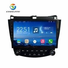 ChoGath Android 6.1 GPS Navigation 10.2 Pouce pour Honda Accord 7 2003-2007 Voiture Radio Avec 1080 P Vidéo Bluetooth Soutien