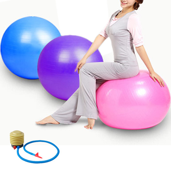 75cm PVC Explosion-Proof Yoga Ball Exercise Fitness Ball Gym Yoga Pilates Body-building Tool