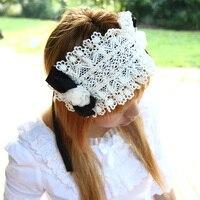 נסיכה מתוקה לוליטה תחרה לבן אבזר שיער להקת שיער סרט שיער פרח bow vintage רויאל עוזרת קוספליי cos