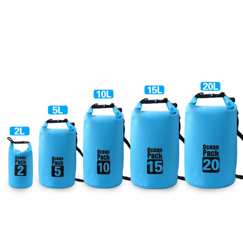 2L 3L 5L Waterproof Bags Dry Bag Water Resistant Swimming Storage Bag Outdoor Kayak Canoe Rafting Upstream Pouch Swimming Bag