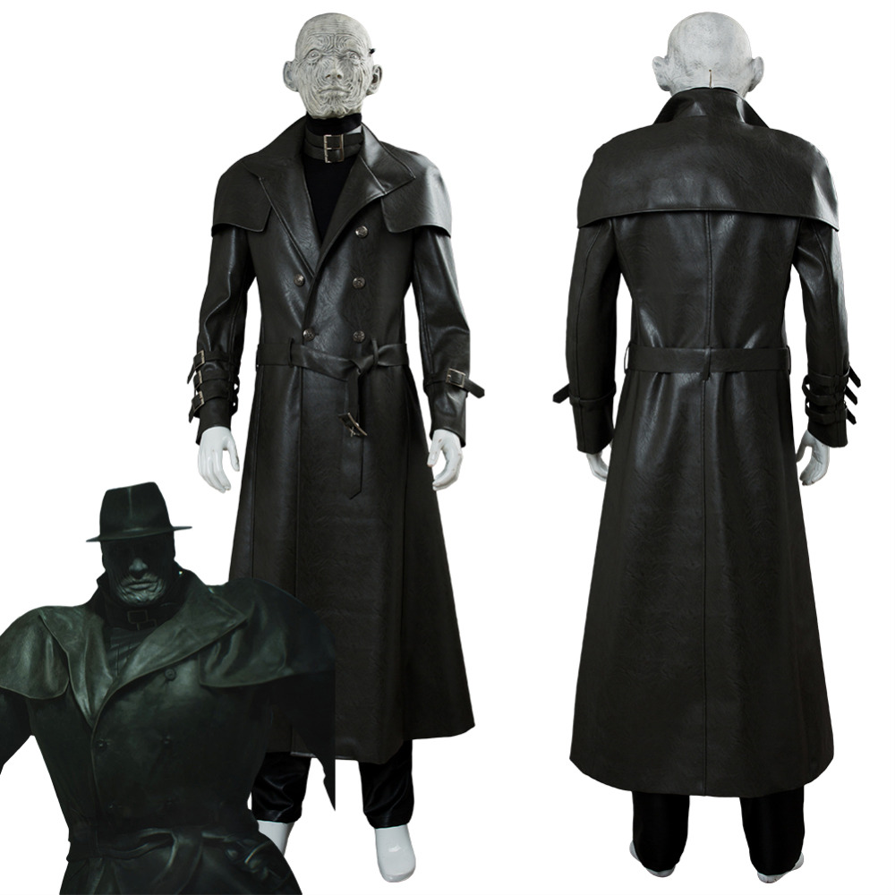 Video Game Resident Evil 2 Cosplay Remake Tyrant Mr. X Costume Full Suit Clothes Halloween Carnival Cosplay Costumes