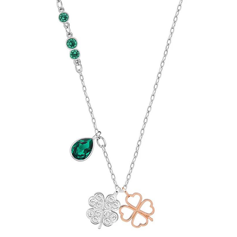 2018 New Lucky Four-Leaf Clover Emerald Fresh And Elegant Temperament Ladies Clavicle Chain Fashion Pendant Necklace 2018 New Lucky Four-Leaf Clover Emerald Fresh And Elegant Temperament Ladies Clavicle Chain Fashion Pendant Necklace