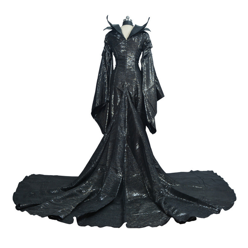 Women Deluxe Maleficent Custom Fantasia Party Dark Witch Maleficent Cosplay Fancy Dress