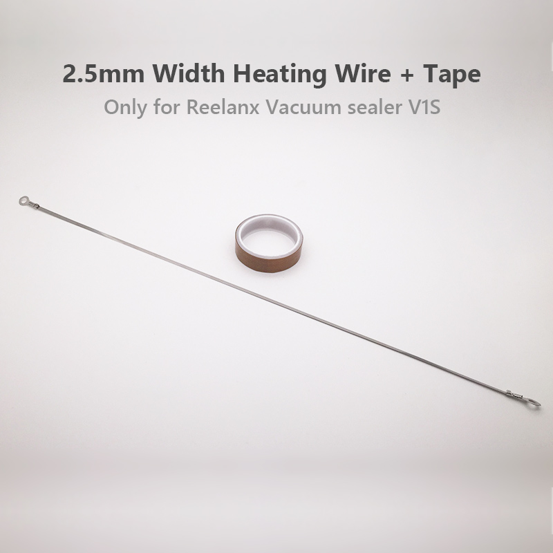 2.5mm Heating wire with Teflon Tape 1 Pair for  Reelanx Vacuum Sealer V1S only Back Up Repaired Part2.5mm Heating wire with Teflon Tape 1 Pair for  Reelanx Vacuum Sealer V1S only Back Up Repaired Part