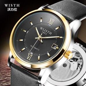 Image 1 - Часы наручные WLISTH Мужские механические, брендовые модные роскошные спортивные автоматические, лучший подарок, 2017