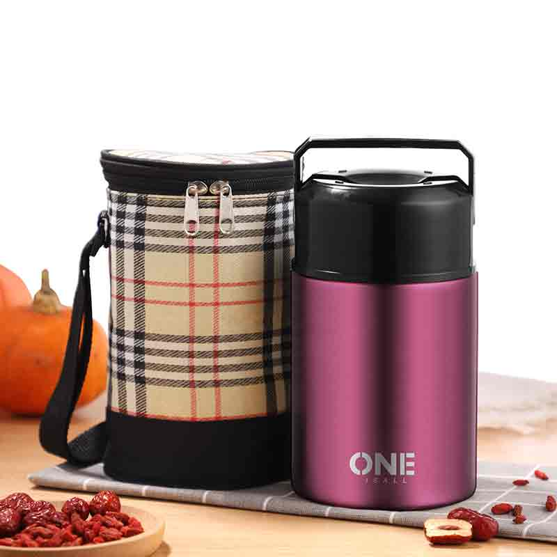 1000ML Food Container Lunch Soup Insulation Flask Storage Pot Thermal Box Stainless Steel Storge