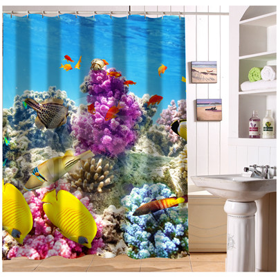 Curtains Ideas coral reef shower curtain : Popular Coral Shower Curtain-Buy Cheap Coral Shower Curtain lots ...