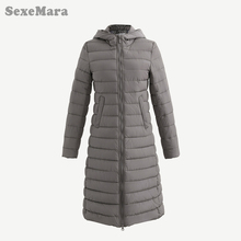 SexeMara Women Clothing Solid Jacket Winter Female 2016 China Stylish Long Khaki Parka Coats Warm Waterproof Women's Winter Coat(China)