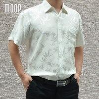 Navy red grey men 100% silk business shirts short sleeve bamboo jacquard shirt chemise homm camiseta masculina LT1447 FREE SHIP