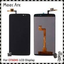 10 ชิ้น/ล็อตคุณภาพสูง 5.5 สำหรับ Rosegold Love Diamond (ติดแน่นบนโทรศัพท์/เคสโทรศัพท์) + ฟิล์มกันรอยรุ่น Alcatel One Touch Idol 3 6045 OT6045 LCD จอแสดงผล Touch Screen digitizer ASSEMBLY