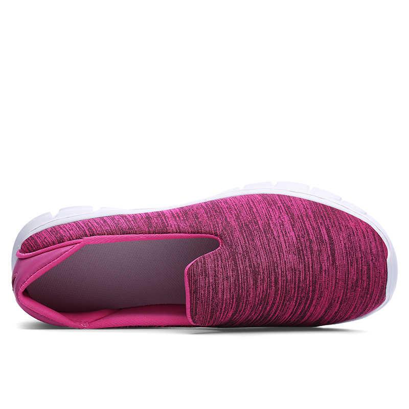 COOTELILI 女性スニーカープラットフォームカジュアルシューズにスリップ快適なローファーレディースグリーングレーピンクプラスサイズ 40 41 42