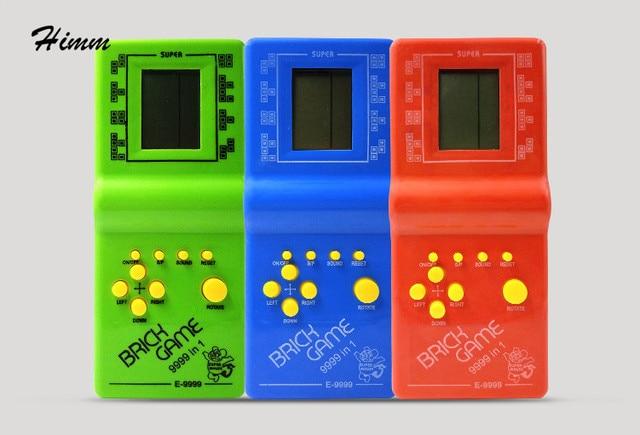 10pcs/lot Classic Tetris Snake Handheld Game Players E-9999 Handheld Game  Console Toys