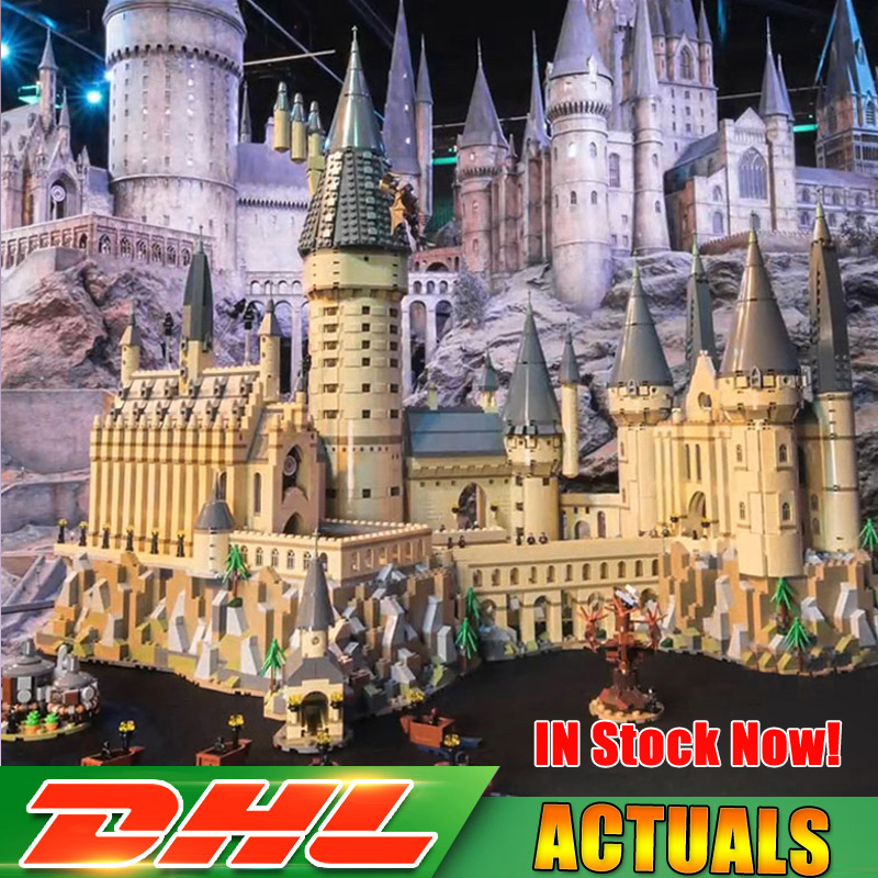 Compatible Legoing 71043 Lepin 16060 6742 piezas mágica de Harry Potter Hogwarts Castillo Kit escolar bloques ladrillos juguete modelo