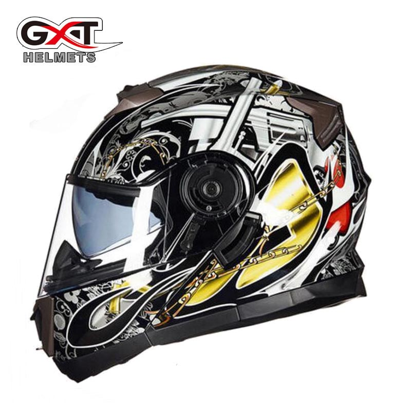 2017 Winter New GXT knight Open face motorcycle helmet G-160 Double lens undrape face motorbike helmets of ABS/ PC Visor lens