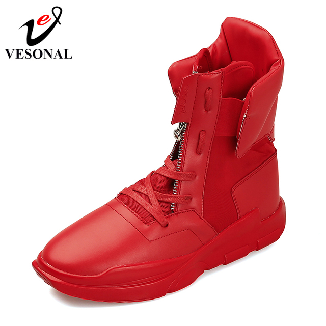 VESONAL Cuoio DELL'UNITÀ di elaborazione di Modo Mid-Calf Boots Uomo Per Gli Uomini Scarpe Per Adulti 2018 Inverno Patchwork di scarpe Da Ginnastica A Piedi Calzature Y69