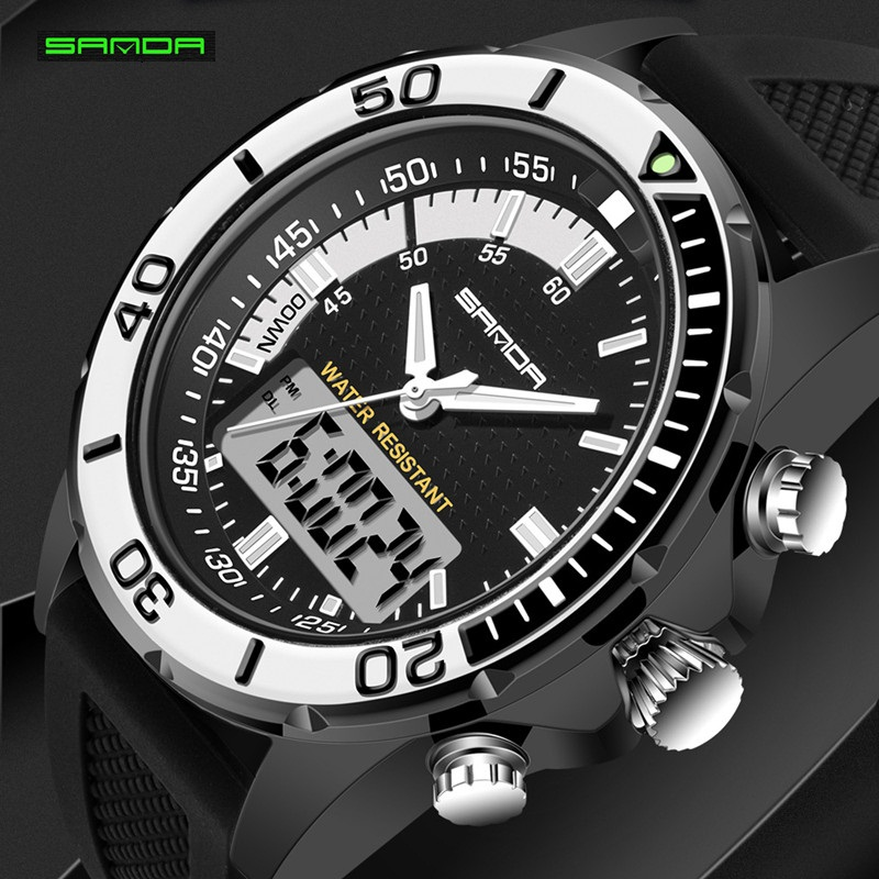 mens watches promotion shop for promotional mens watches hot men watches brand sanda sport diving led display wristwatch fashion casual rubber strap watch men montre homme relogio