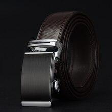 Men's Luxury Gold Silver Buckle Leather Belt