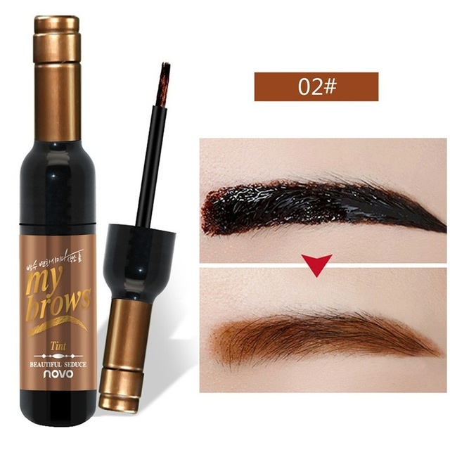 Eye Brow Makeup Maquiagem 3D Peel Off Eyebrow Gel + Eyebrow Stencil Natural Eyebrow Tint Tattoo Mascara Brushes Beauty 4