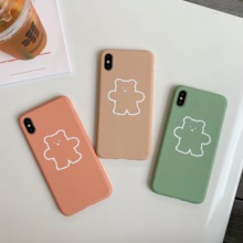 Matte Soft TPU Painted  Cute Animal Red Green Brown Phone Case For iphone 8 7 6 6S Plus X XS MAX XR  Funda iphone 7  Cover Shell animal series cute dog style phone case cover for iphone 4 4s brown black