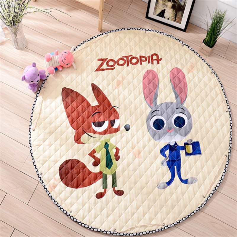 Baby Crawling Play Mat Padded Cotton Climbing Cute Toys Game Pads for Infants Double-sided Thicke 145*145CM Non-skid Floor Pads