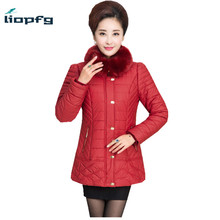 Large Size Of The Mother Loaded Winter Coat 2017 New PU Leather Cold Warm Jacket Coat Thickening Loose Warm Coat XL-5XL WM423